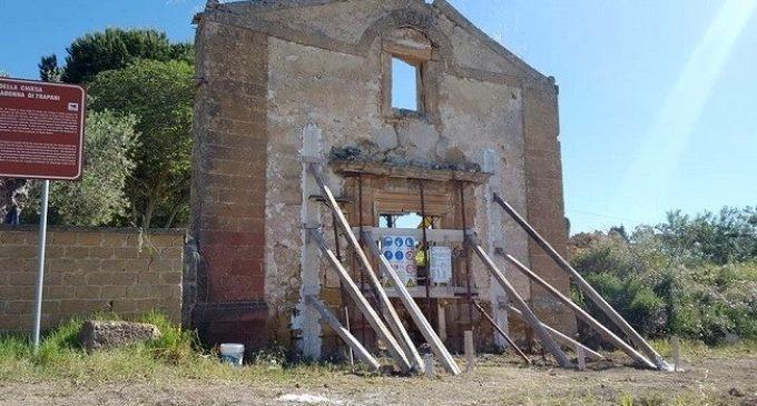Partanna, messa in sicurezza della facciata della Madonna di Trapani ma servono fondi per la ricostruzione