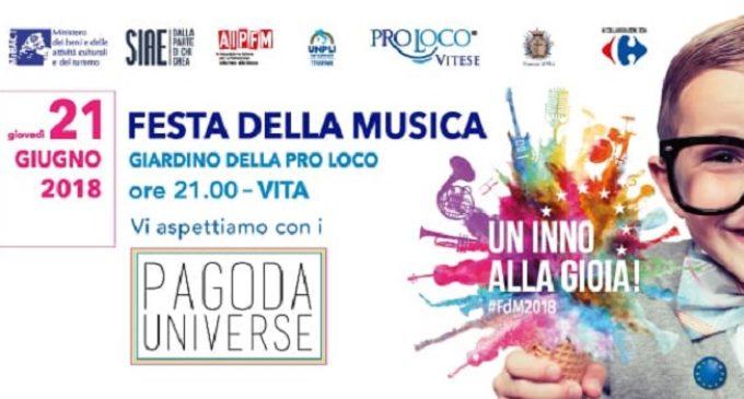 """Oggi è la """"Festa della musica"""". La Pro loco vitese al ritmo dei Pagoda Universe"""