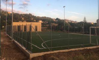 Salemi, lavori al campo di calcio a 5 'Rocco Chinnici'
