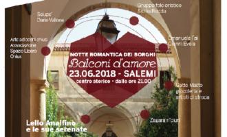 Salemi, Notte Romantica dei borghi: ospite d'eccezione il cantanteLello Analfino