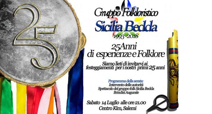 Sicilia Bedda, festeggia i suoi 25 anni. Sabato una speciale serata tra esperienze e folklore