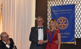 Passaggio della campana al Rotary Club Partanna.  Mimma Amari è la neo presidente