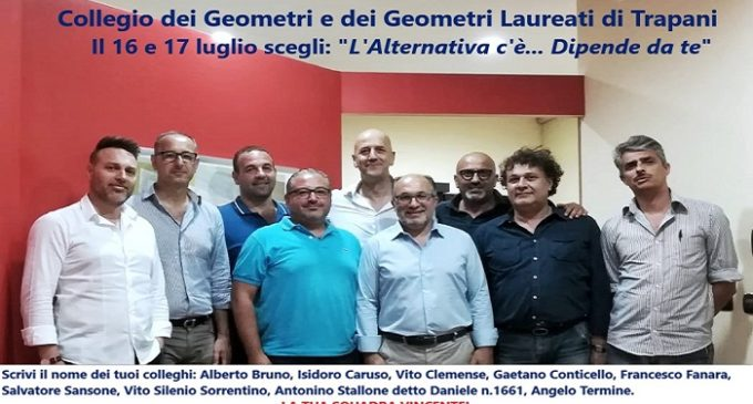 """Trapani, il Collegio dei Geometri si rinnova: """"L'Alternativa c'è…"""""""
