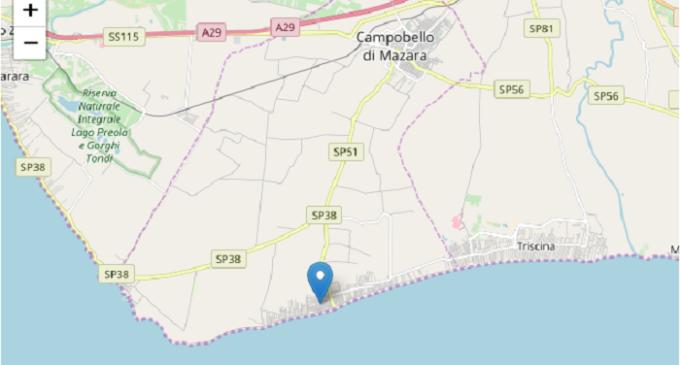 Lieve scossa di terremoto a Campobello di Mazara. L'onda sismica ha raggiunto Triscina