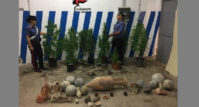 Tre Fontane: in possesso di varie piante di Marijuana e reperti archeologici. Arrestati due fratelli