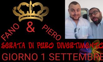 Partanna, sabato 1 settembre l'esibizione del duo comico Fano & Piero