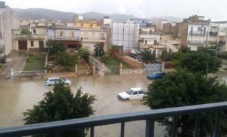 Gibellina, pioggia battente manda in tilt  il traffico. Apprensione tra i cittadini