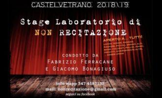"""Laboratorio di """"Non recitazione"""", l'inedito progetto teatrale di Ferracane e Bonagiuso"""