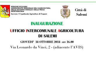 Salemi, si inaugurano i nuovi uffici per l'agricoltura. Un'unica sede per i sei comuni del territorio