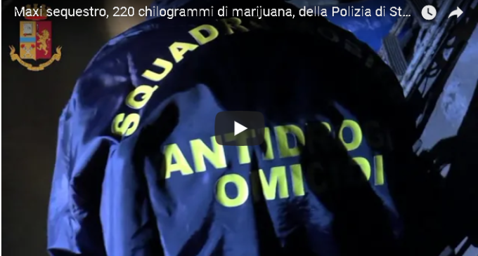 Maxi sequestro della Polizia a Calatafimi. Arrestate due persone con 220 chili di droga