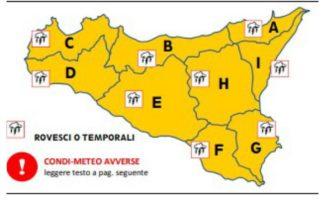 """1 novembre, allerta meteo """"arancione"""": Previsti forti temporali e vento di scirocco"""