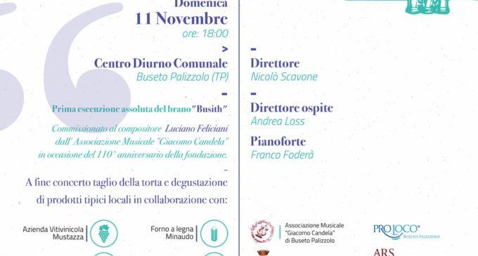 """Buseto Palizzolo, La banda musicale """"Giacomo Candela"""" festeggia il 110° anniversario"""