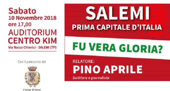 """""""Salemi, Prima capitale d'Italia: Fu vera Gloria?"""" Il giornalista Pino Aprile racconta le verità nascoste"""