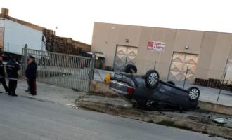 Partanna: Auto cappottata in Via Castelvetrano, un ferito