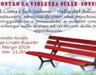 Il Lions Club adotta la panchina rossa a Santa Ninfa. L'8 marzo dedicato alle donne vittime di violenza