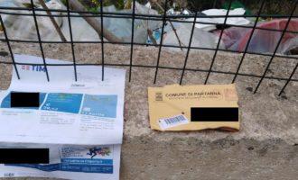 Partanna: Abbandona la spazzatura coi documenti personali all'interno. Beccato da un passante