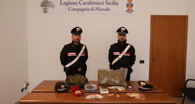 Marsala, servizi antidroga dei Carabinieri. Madre e figlio in manette