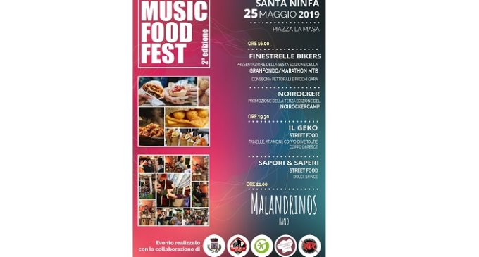 Santa Ninfa: sabato 25 maggio la seconda edizione del «Music food fest»