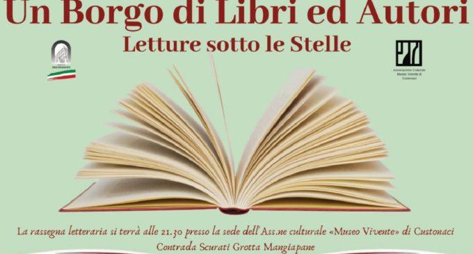 Sicilia, Custonaci: la nuova rassegna letteraria «Un Borgo di Libri ed Autori» alle «Grotte Mangiapane»