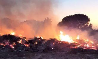 Partanna, denunciati in due per discarica abusiva e combustione illecita di rifiuti