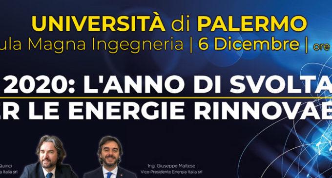 """Il 6 dicembre a Palermo la II edizione dell'""""Energy Conference"""", l'evento nazionale dedicato alle energie rinnovabili"""
